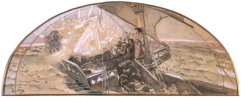 Принцесса Грёза. Эскиз панно для Нижегородской выставки — Врубель Михаил Александрович