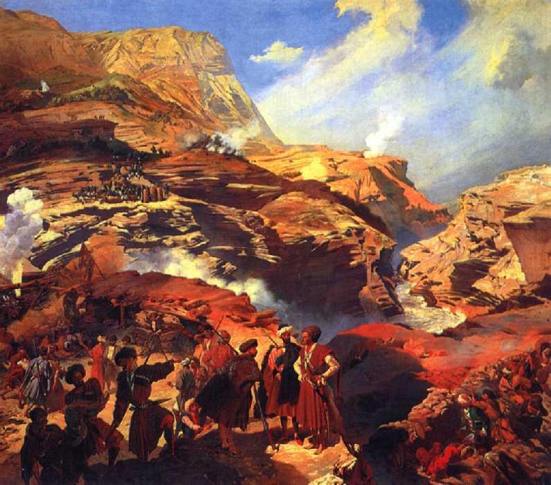 Сражение между русскими войсками и черкесами при Ахатле 8 мая 1841 года — Гагарин Григорий Григорьевич