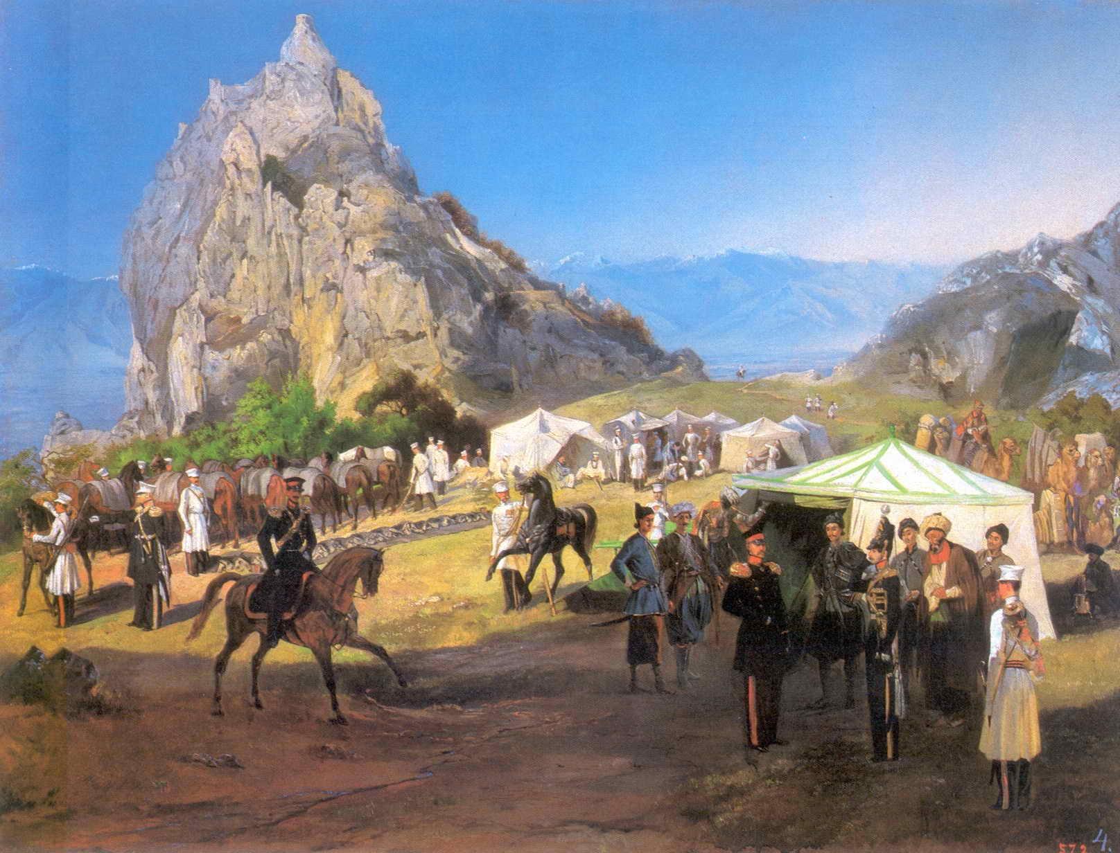 Летний лагерь Нижегородского драгунского полка под Кара-Агачем — Гагарин Григорий Григорьевич