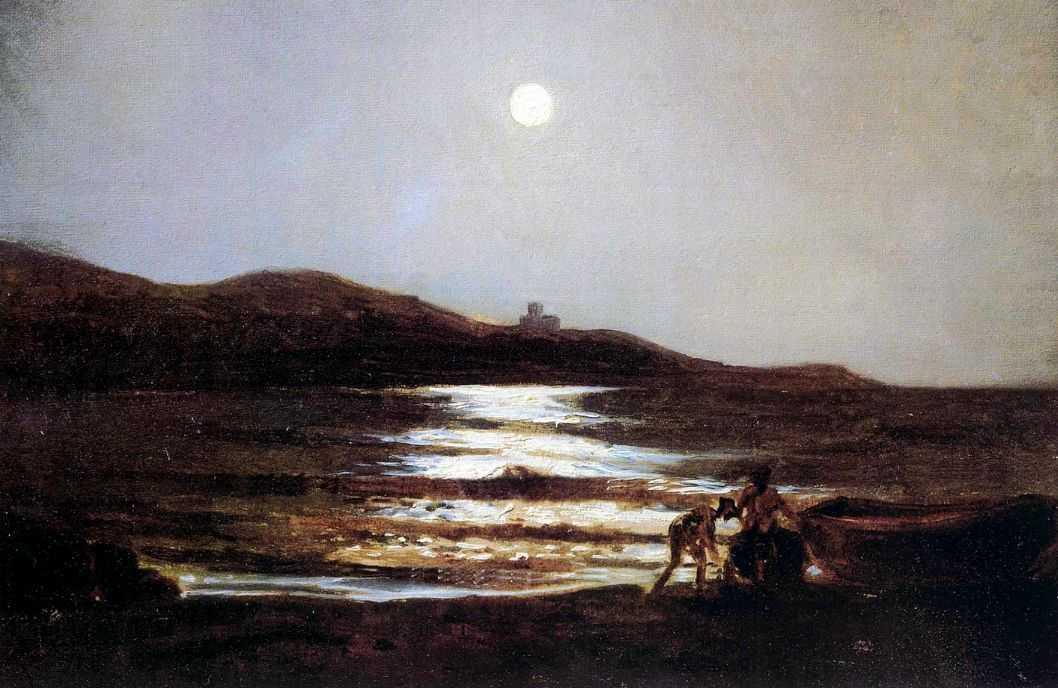Вид из Санто-Теренцо на Леричи ночью — Ге Николай Николаевич