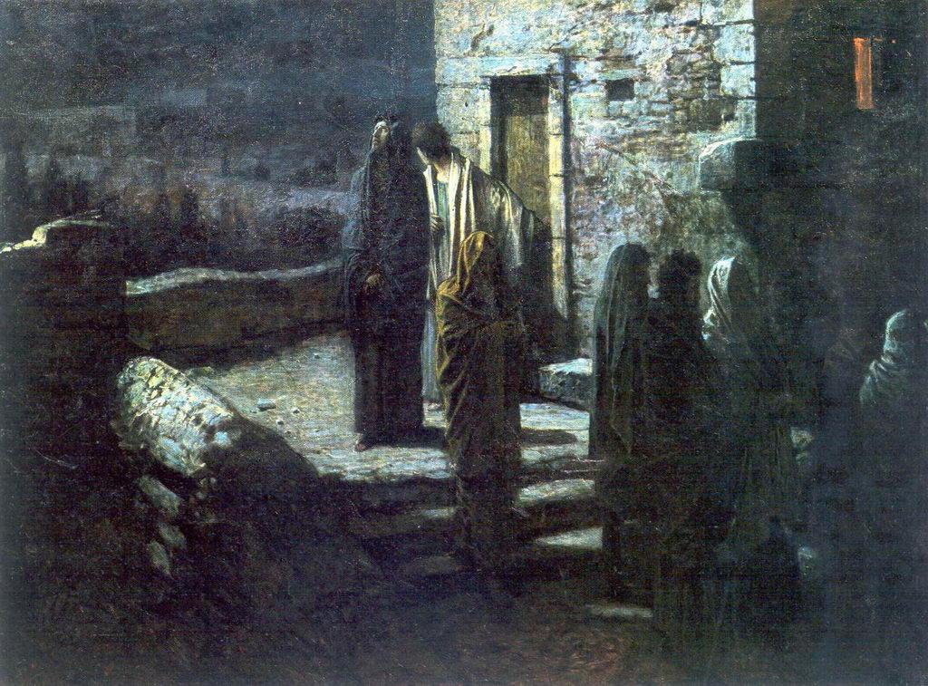 Выход Христа с учениками с Тайной вечери в Гефсиманский сад — Ге Николай Николаевич