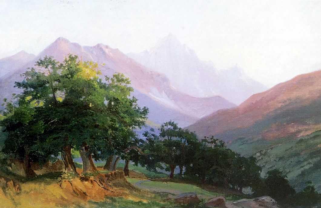 Дубы в горах Каррары — Ге Николай Николаевич
