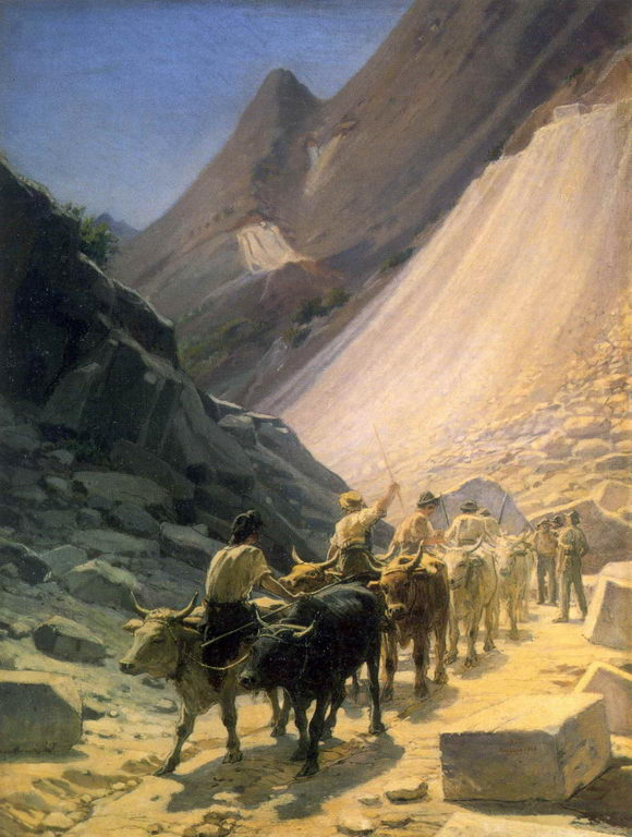 Перевозка мрамора в Карраре — Ге Николай Николаевич