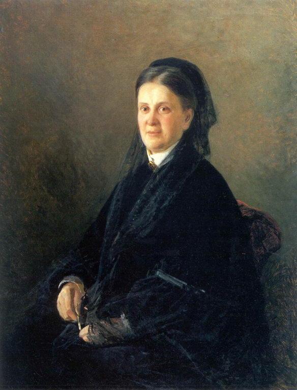 Портрет А.М.Олсуфьевой — Ге Николай Николаевич