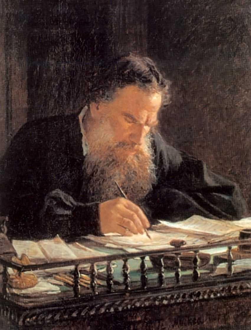 Портрет писателя Льва Николаевича Толстого — Ге Николай Николаевич