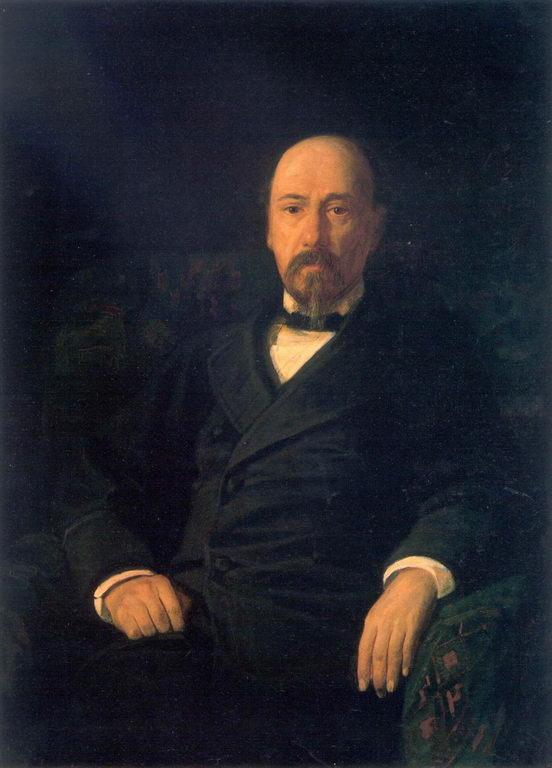 Портрет поэта Н.А.Некрасова — Ге Николай Николаевич