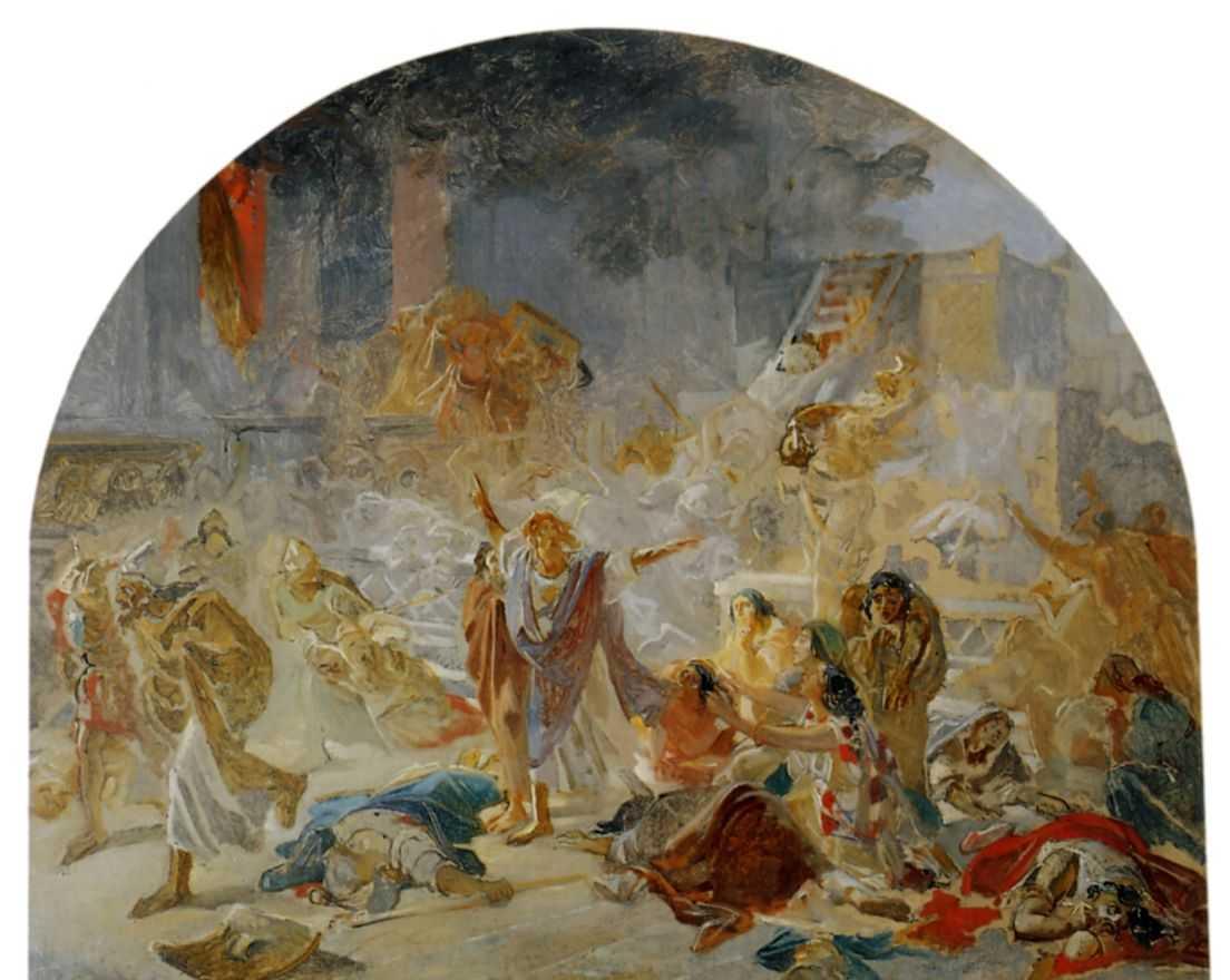 Разрушение Иерусалимского храма — Ге Николай Николаевич