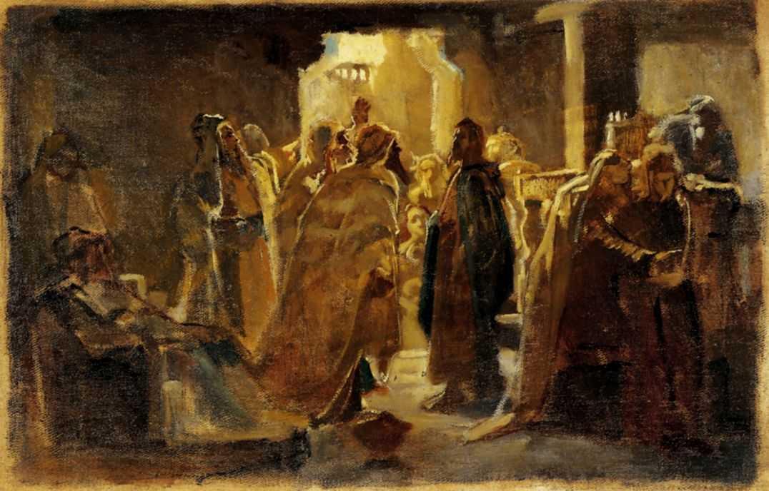 Христос в синагоге — Ге Николай Николаевич