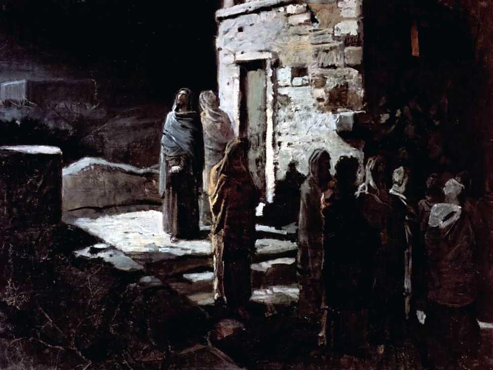 Христос с учениками входит в Гефсиманский сад — Ге Николай Николаевич