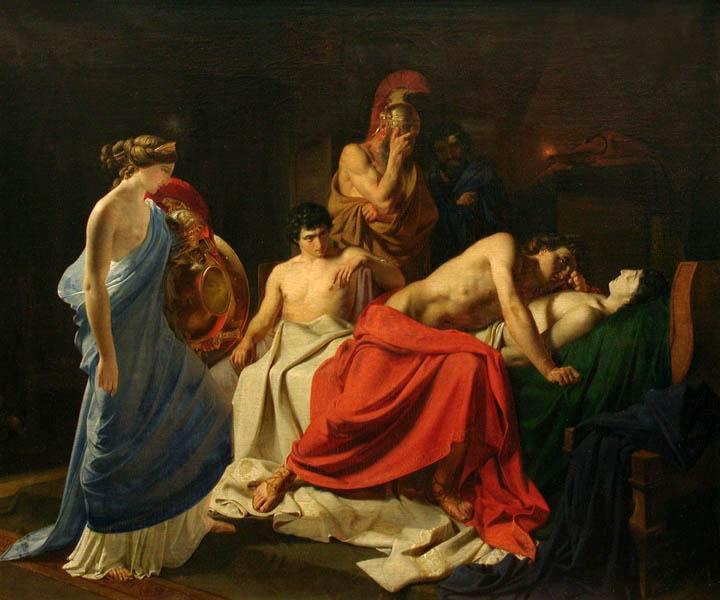 Ахиллес, оплакивающй Патрокла — Ге Николай Николаевич