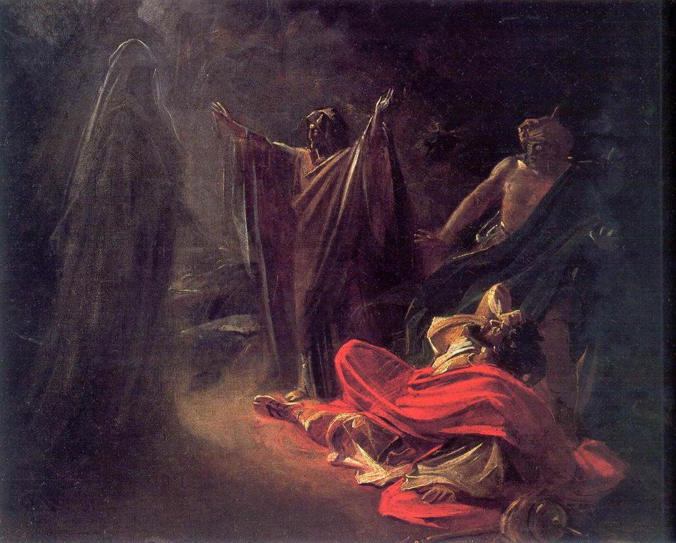 Аэндорская волшебница вызывает тень Самуила — Ге Николай Николаевич