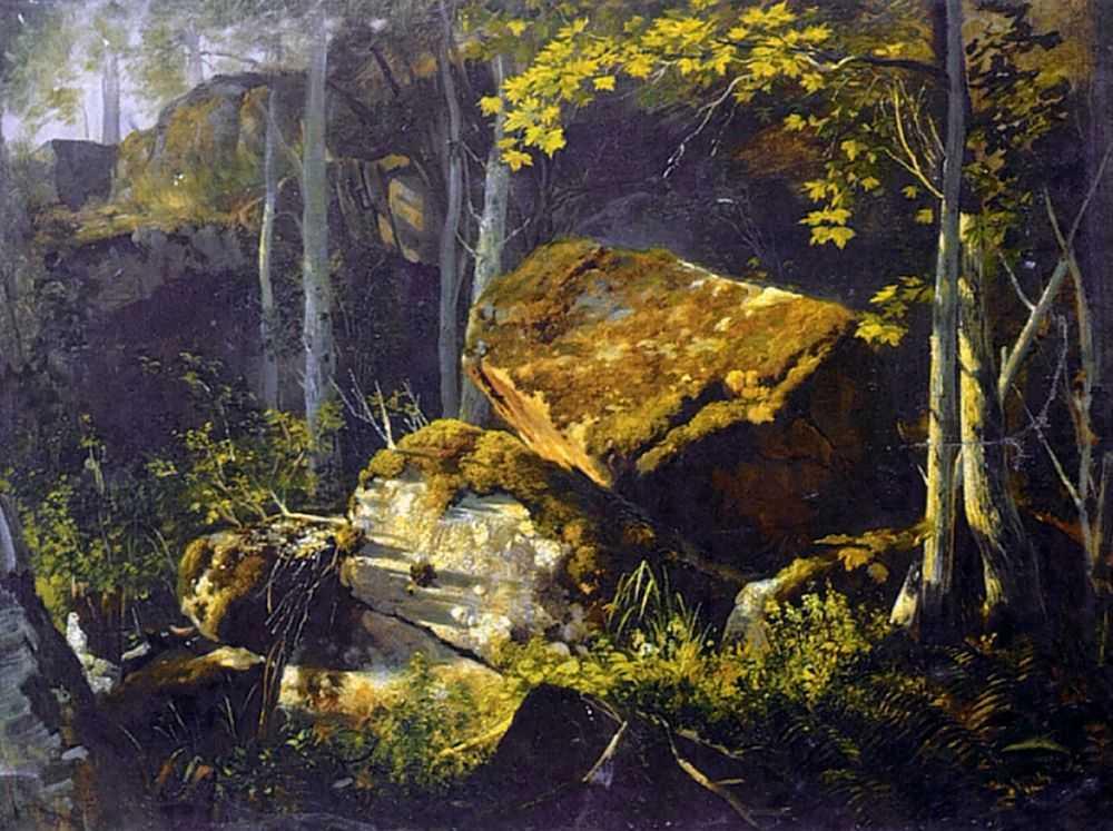На Валааме. Камни в лесу — Гине Александр Васильевич