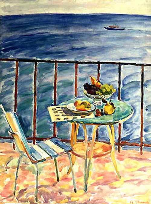 Натюрморт на фоне моря — Антипова Евгения Петровна