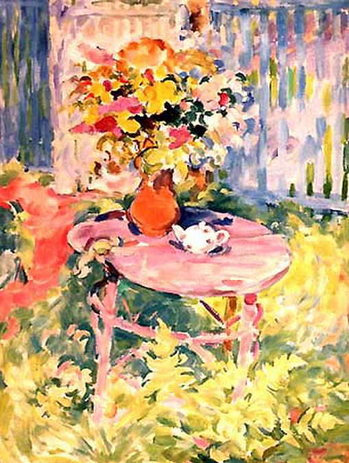 Натюрморт с белым чайником — Антипова Евгения Петровна