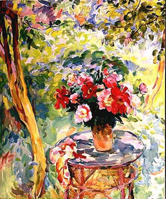 Пионы в саду — Антипова Евгения Петровна