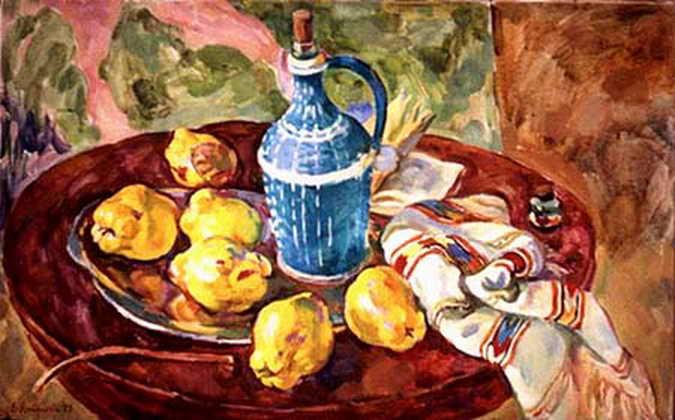 Айва и голубая бутылка — Антипова Евгения Петровна