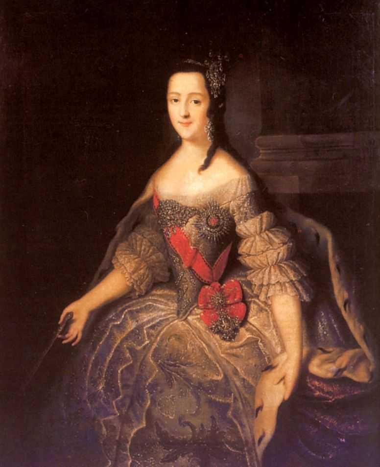 Портрет великой княгини Екатерины Алексеевны с веером в руках — Гроот Георг Кристофор