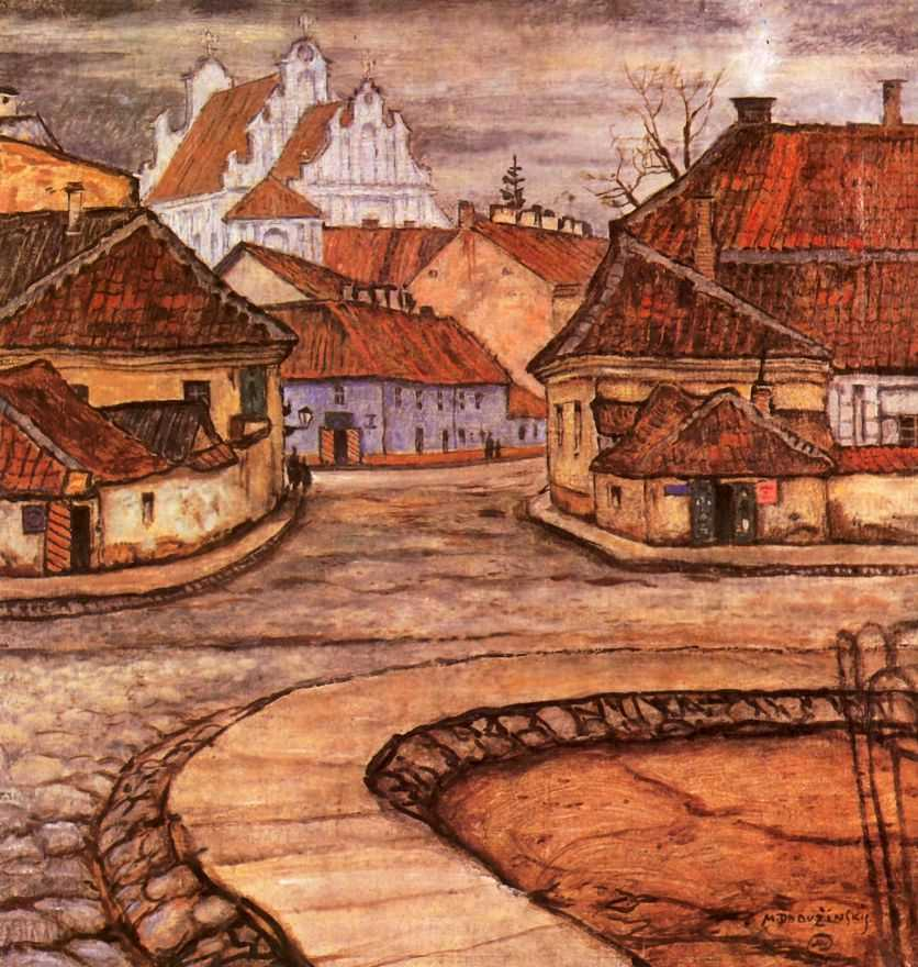 Улица Тилто в старом Вильно — Добужинский Мстислав Валерианович