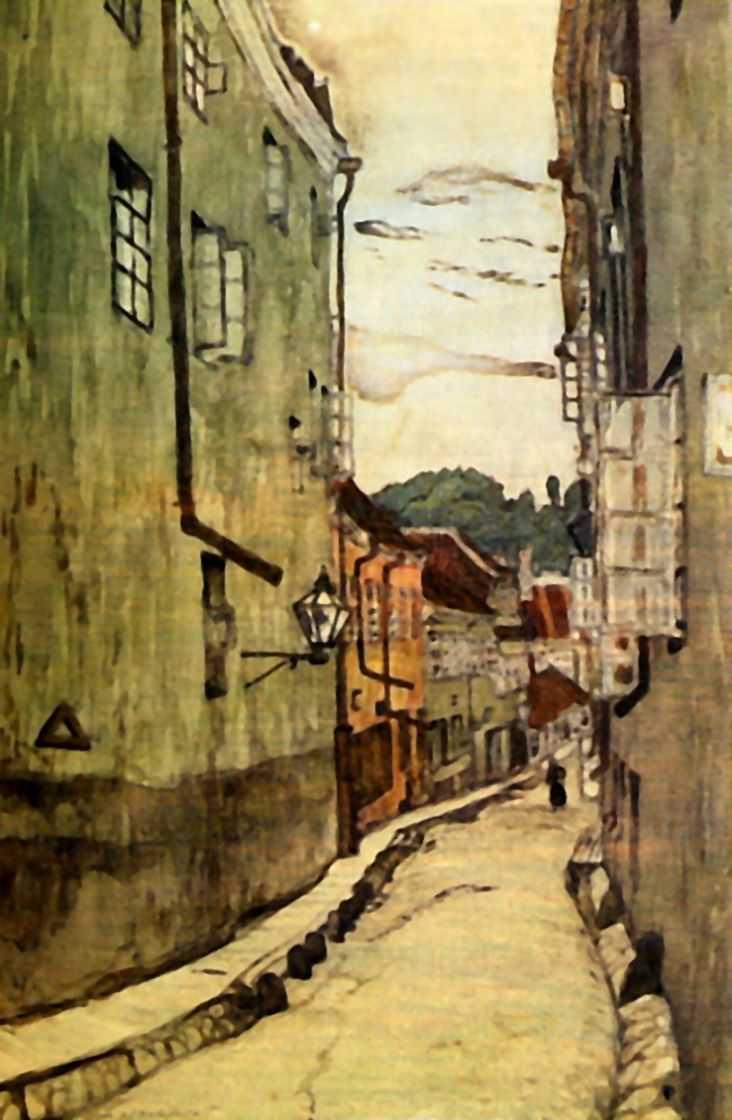Улица стекольщиков в Вильно — Добужинский Мстислав Валерианович