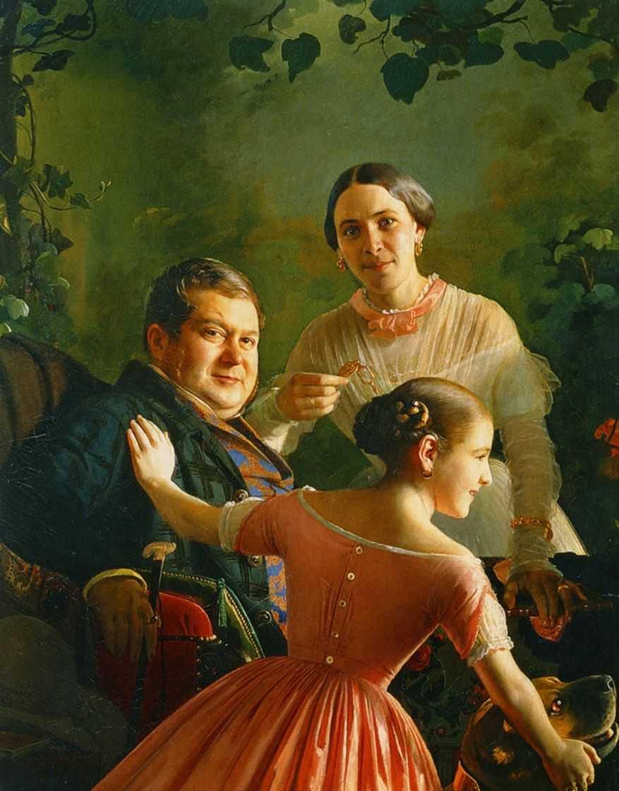 Портрет семьи Турчаниновых — Зарянко Сергей Константинович