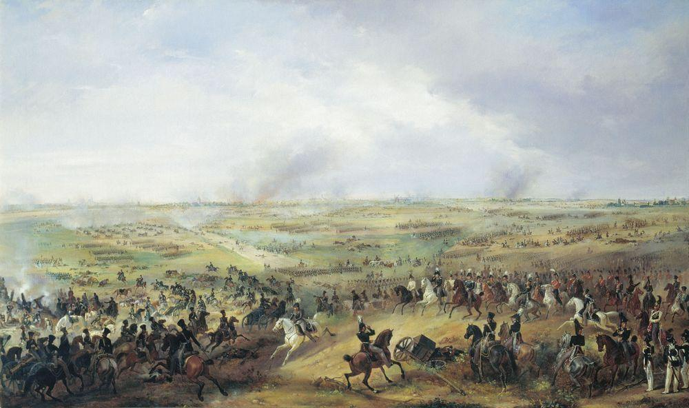 Битва под Лейпцигом — Зауервейд Александр Иванович