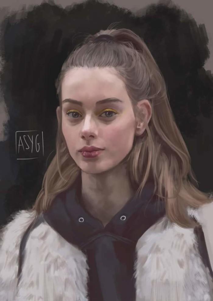 Был стадик на волосы. Нарисовано в Krita.  Какие пироги используете для рисования?   Author: Anastasiia Gartsunova