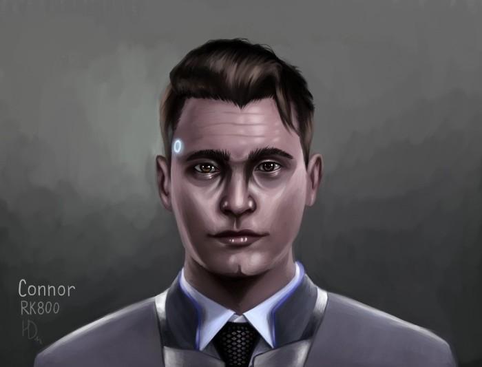 """Арт к очень крутой игре """"Detroit: Become human"""". Коннор  RK800   Author: Helga Diak"""