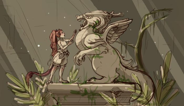 Набросок и финальная работа Персонаж по имени Лиша, от Monro•Sha | Author: Маленький ПсЫх