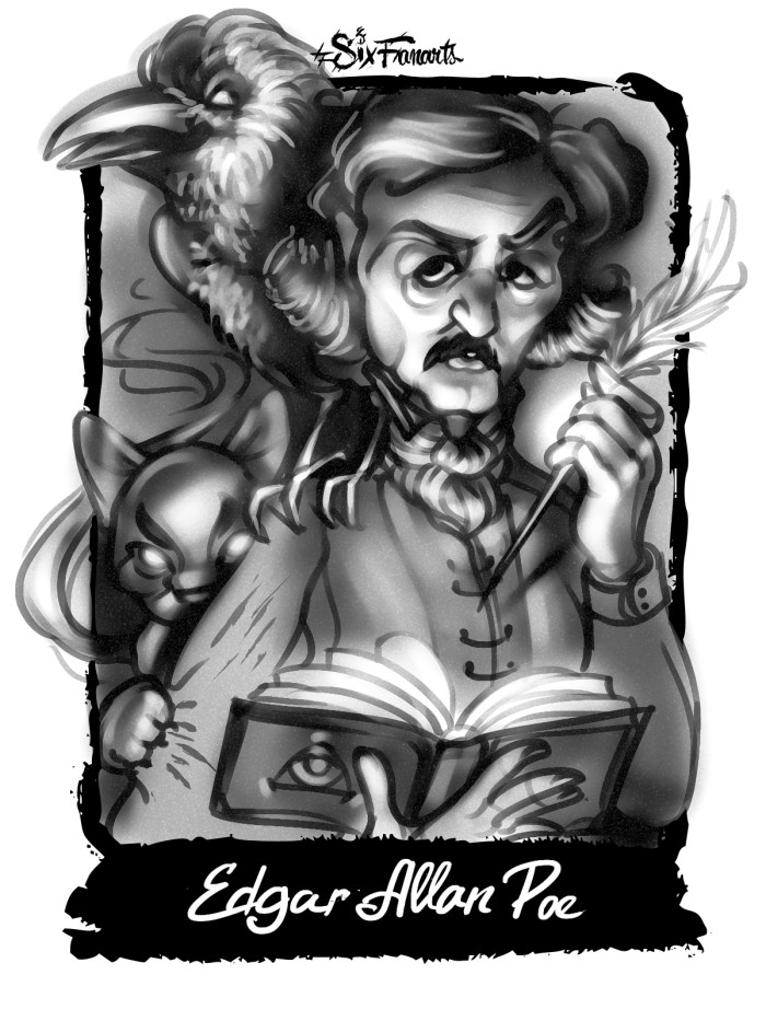 #sixfanarts And my soul from out that shadow that lies floating on the floor Shall be lifted – nevermore! | Author: MGimg