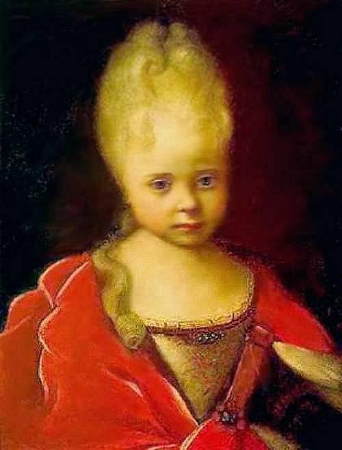 Портрет Елизаветы Петровны ребенком — Никитин Иван Никитич