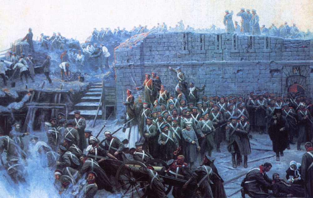 Оборона Севастополя. Панорама. Фрагмент — Рубо Франц Алексеевич