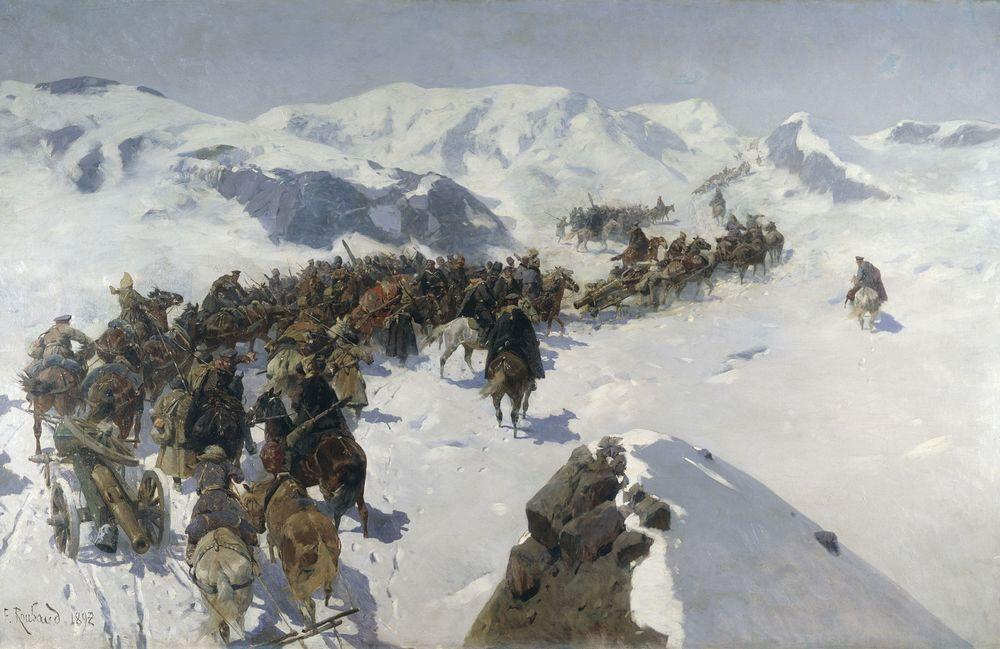 Переход князя Аргутинского через Кавказский хребет — Рубо Франц Алексеевич