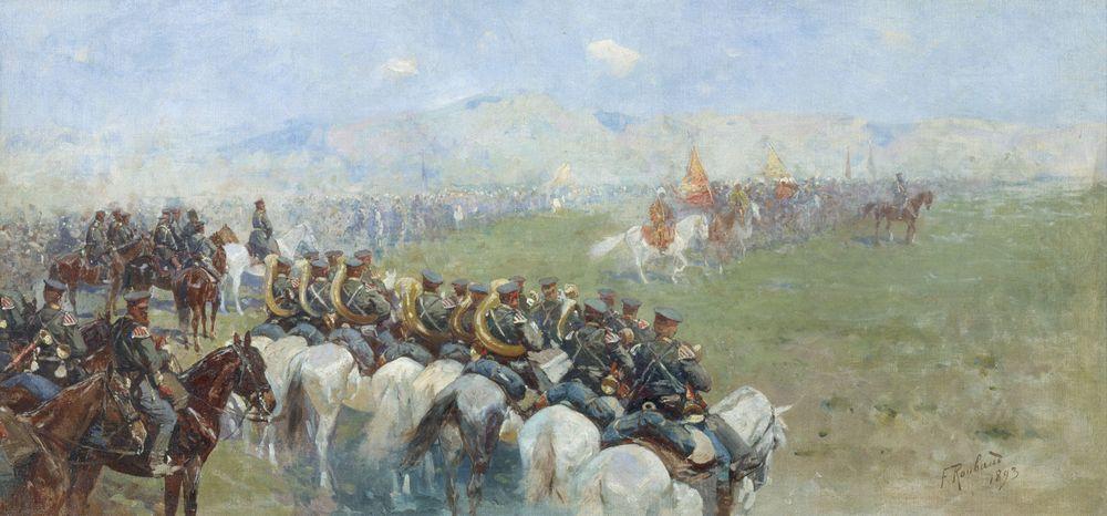Смотр войск Александром III — Рубо Франц Алексеевич