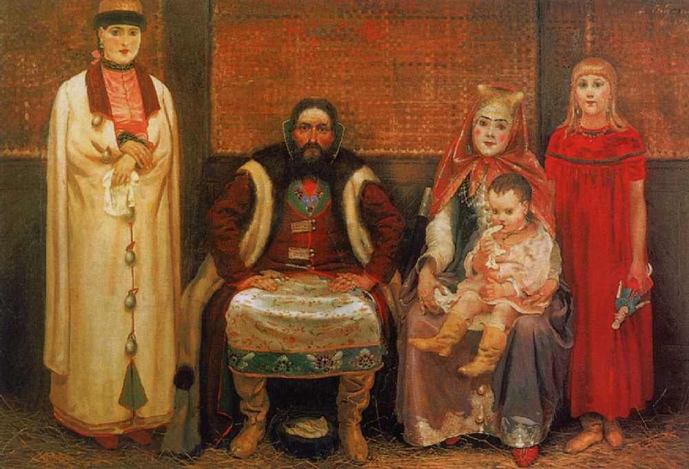 Семья купца в XVII веке. — Рябушкин Андрей Петрович