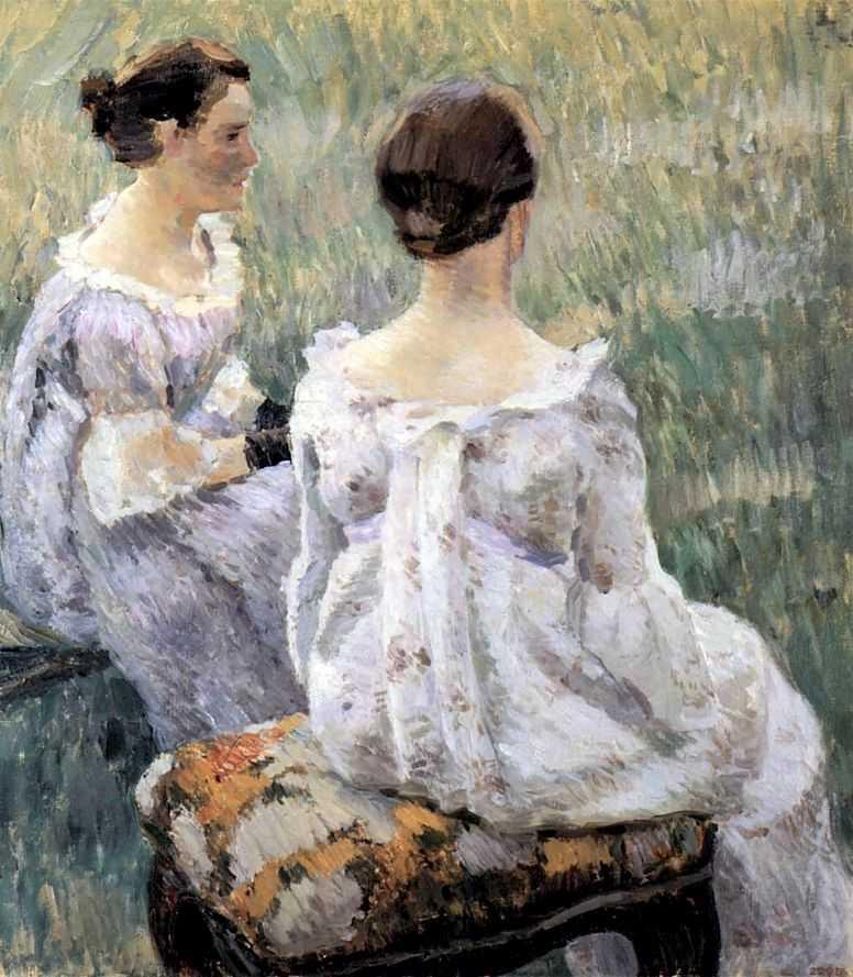Две сидящие дамы — Борисов-Мусатов Виктор Эльпидифорович