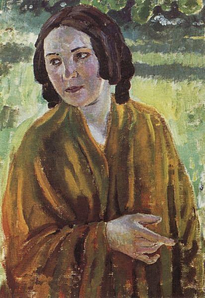 Девушка в желтой шали — Борисов-Мусатов Виктор Эльпидифорович