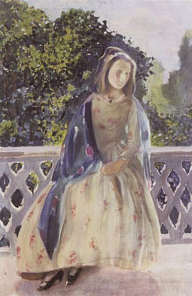 Девушка на балконе — Борисов-Мусатов Виктор Эльпидифорович