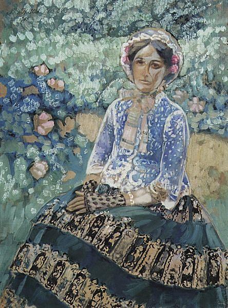 Женщина в голубом — Борисов-Мусатов Виктор Эльпидифорович