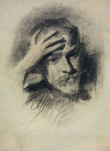 Автопортрет. 1904-1905 — Борисов-Мусатов Виктор Эльпидифорович