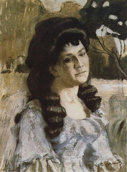 Портрет дамы — Борисов-Мусатов Виктор Эльпидифорович