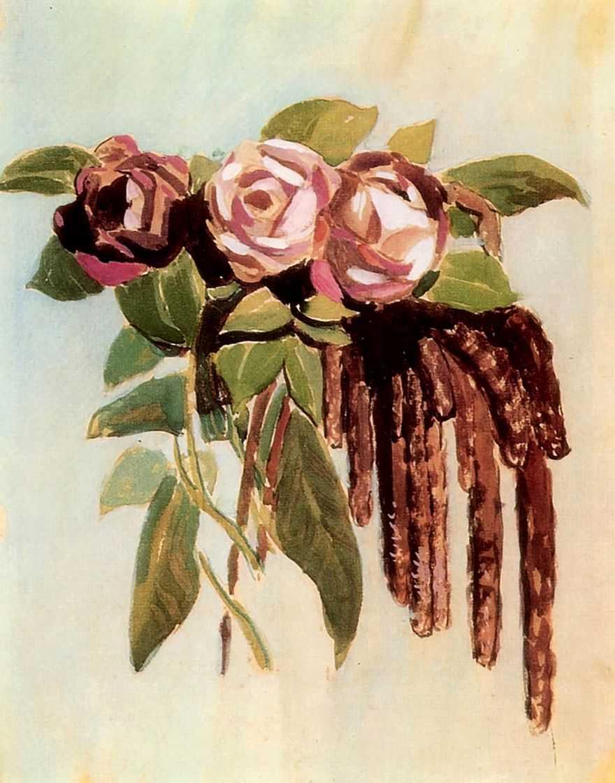 Розы и сережки — Борисов-Мусатов Виктор Эльпидифорович