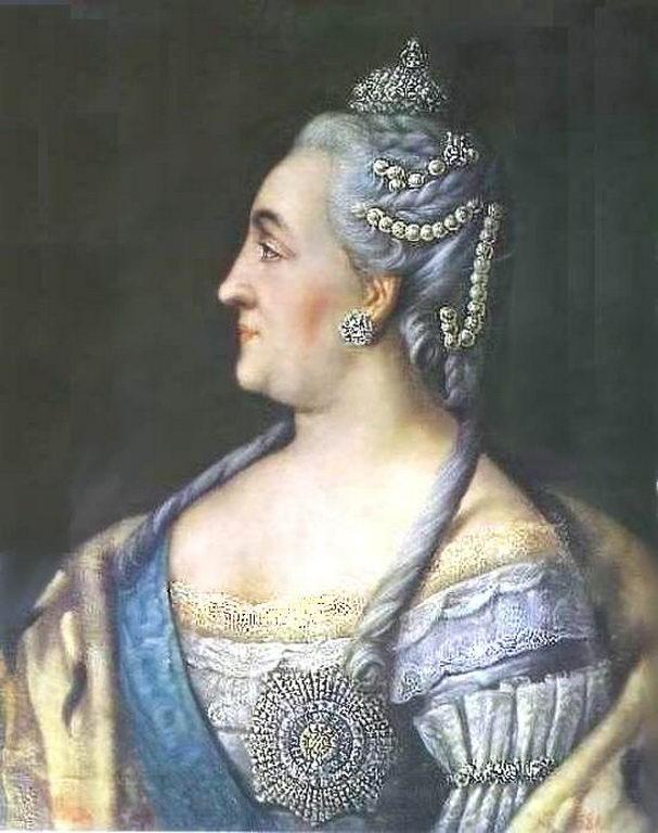 Портрет Екатерины II в профиль — Антропов Алексей Петрович