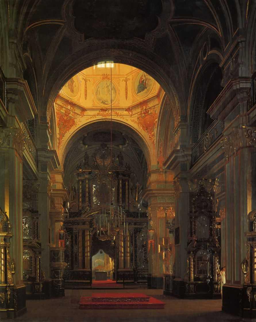 Внутренний вид морского Никольского собора в Петербурге — Зарянко Сергей Константинович